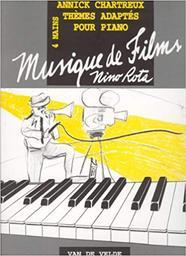 Musique de films : thèmes adaptés pour piano à 4 mains / compositeur Nino Rota | Rota, Nino (1911-1979). Compositeur