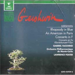 Rhapsody in blue. Concerto en fa pour piano et orchestre. An American in Paris / Compositeur George Gershwin | Gershwin, George (1898-1937). Compositeur