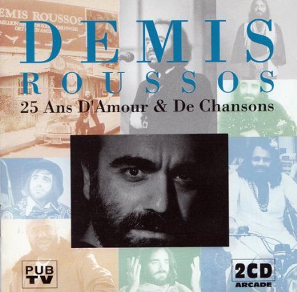 25 ans d'amour et de chansons / Interprète Demis Roussos   Roussos, Demis (1946-2015). Chanteur